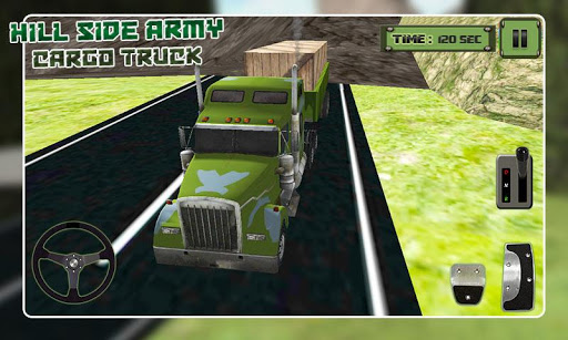Hill-Side Army Cargo Truck 3D