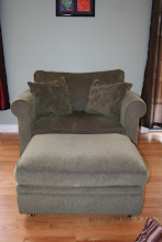 """Photo: $250Crate & Barrel Oversized Chair (2'8"""") w/ ottoman"""