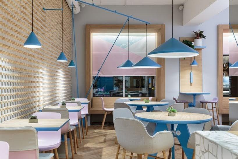 Marat Mazur ha diseñado un nuevo café en San Petersburgo, Rusia