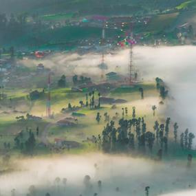 misty morning by Martin Marthadinata - Landscapes Mountains & Hills ( nature, sunrise, morning, landscape, bromo )