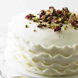 Vanilla, Rose and Pistachio Cake.