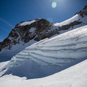 Glacier  by Eden Meyer - Landscapes Mountains & Hills ( hight mountain, snow, landscape, séracs )