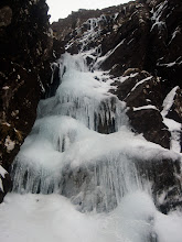 Photo: The initial ice pitch of March Hare Gully (IV)