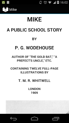 Mike by Wodehouse