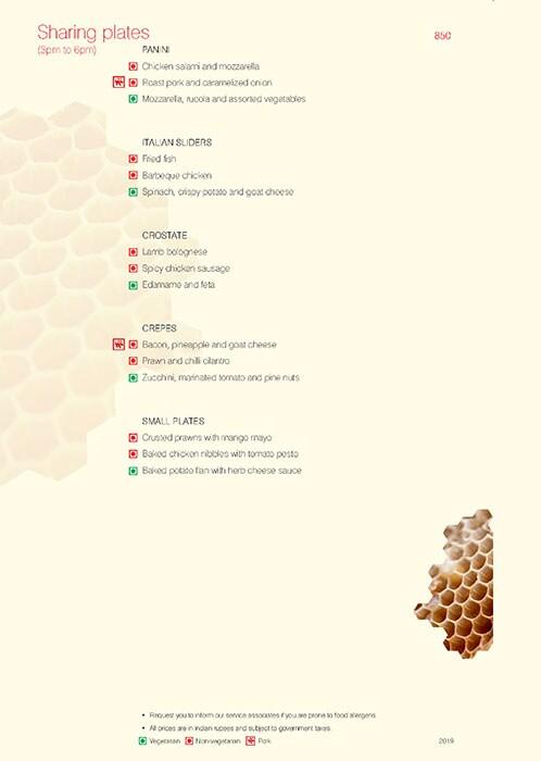 Trattoria, Vivanta By Taj President menu 8