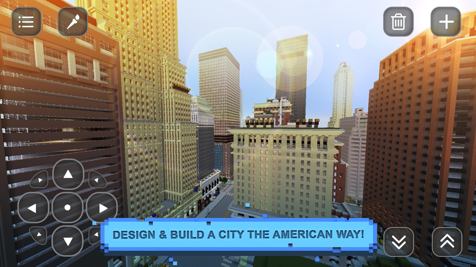Usa block craft exploration 3d android apps on google play for Crafting and building app store