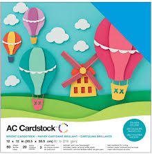 American Crafts Textured Cardstock Pack 12X12 60/Pkg - Brights