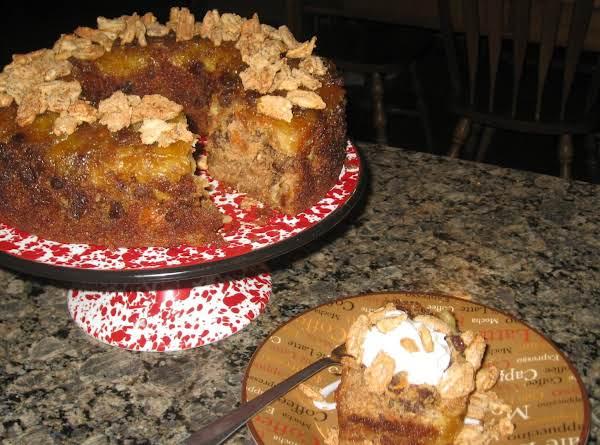 Pineapple Upside-down Pecan Praline Carrot Cake Recipe