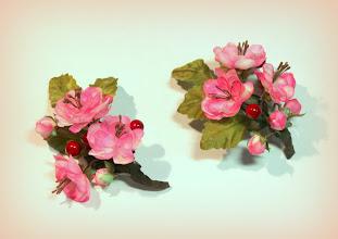 Photo: Цветы из ткани - веточки вишни