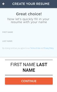 build your resume 20 screenshot thumbnail