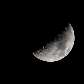 Moon by Anabela Henriques - Black & White Landscapes ( moon, nature, black and white )