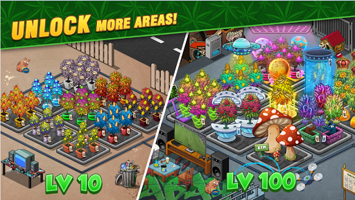 Screenshot for Bud Farm Idle - Growing Tycoon Garden Decor in United States Play Store