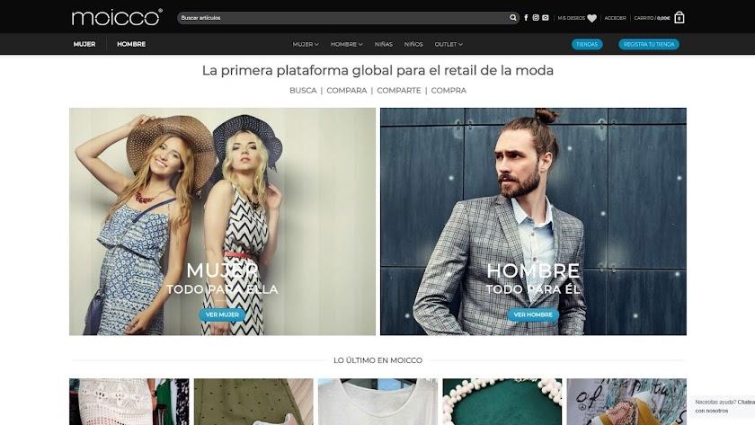 La plataforma online Moicco.
