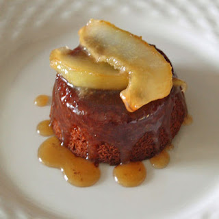 Sticky Ginger Cake with Caramelized Pears.