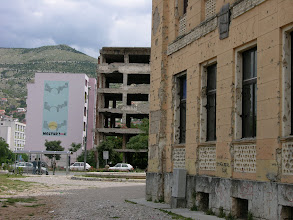 Photo: Mostar's frontline from the 1990's