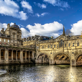 UK, Bath by Charles Ong - Buildings & Architecture Public & Historical ( hdr, bridge )