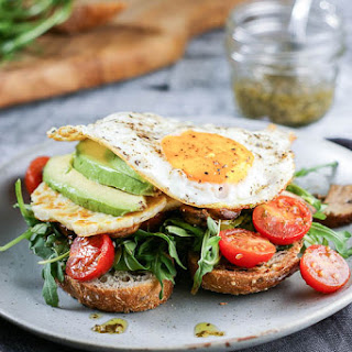 Mediterranean Halloumi and Egg Toast.
