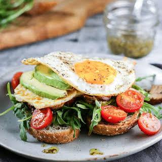 Mediterranean Halloumi and Egg Toast.