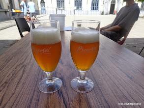 Photo: ENKEL OP DE CONTROLEPOSTEN KON JE HET 'BEERSELBIER' DRINKEN