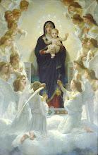 Photo: Title: The Virgin with Angels (Regina Angelorum) Artist: William-Adolphe Bouguereau Medium: Oil on canvas Size: 285 x 185 cm Date: 1900 Location: Musée du Petit Palais, Paris  http://iconsandimagery.blogspot.com/2009/07/virgin-with-angels.html