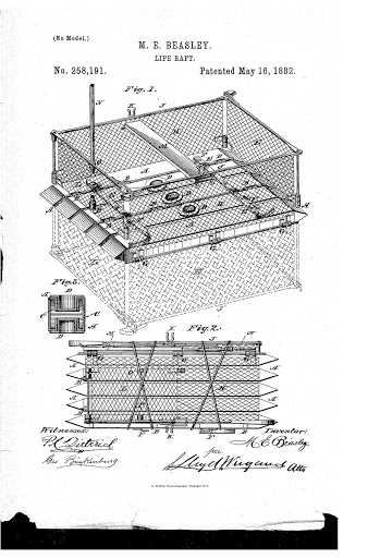 Life-raft schematic for patent application