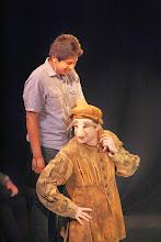 Photo: Launcelot and Conscience,Merchant of Venice, Shakespeare Center Los Angeles. Photo, Michael Lamont.