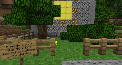 Photo: Seeing this sign was probably the most exciting moment I had in my Minecraft experience