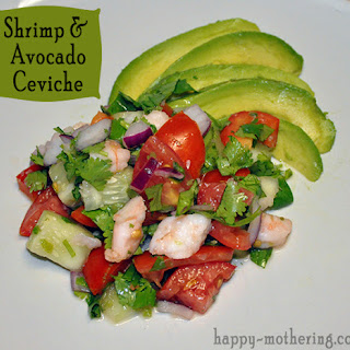 Shrimp & Avocado Ceviche.