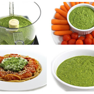Amazing, Skinny Spinach Pesto (Gluten-free)