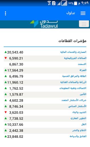 تداول الأسهم السعودية