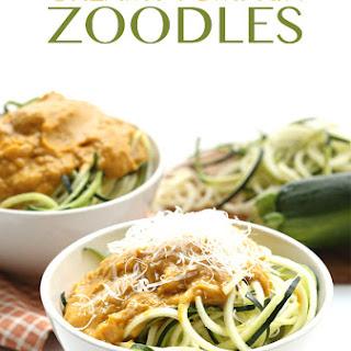 Creamy Pumpkin Zucchini Noodles
