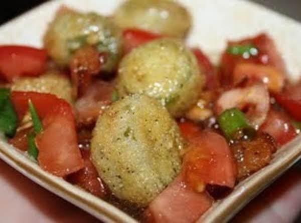Fried Okra & Tomato Salad Recipe