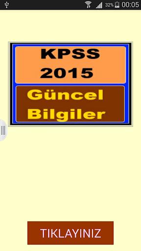 KPSS Güncel Bilgiler 2015