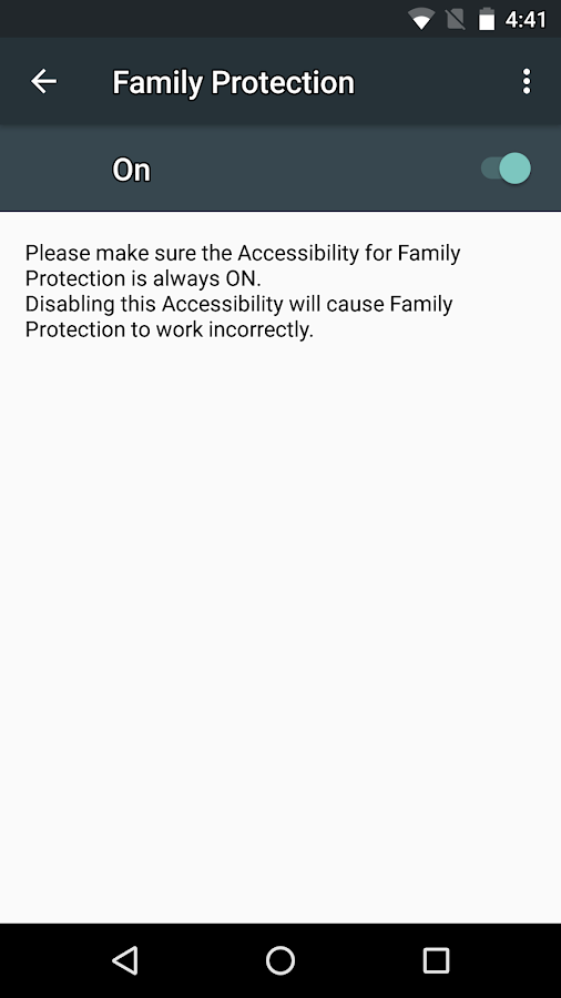McAfee Family Protection- screenshot