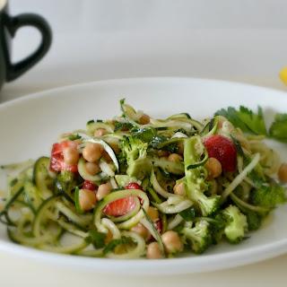 Spiralized Sesame Cucumber and Zucchini Bowl
