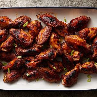 Baked Blackened Cajun Chicken Wings.