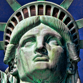 Statue of Liberty up close by Chuck Kuhn - Buildings & Architecture Statues & Monuments ( icon, statue of liberty, monument, new york, new jersey )