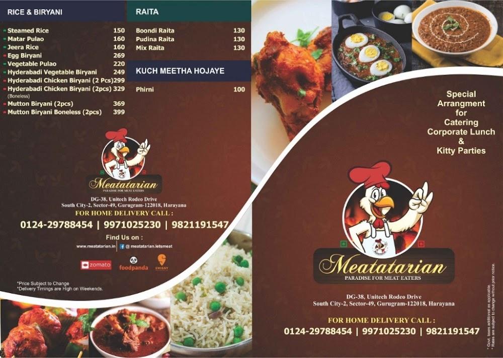 Meatatarian menu 2