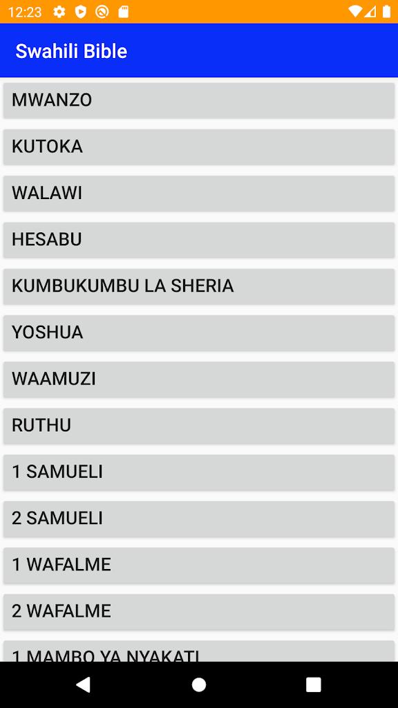 Kiswahili Bible Bibilia Latest Version Apk Download Com Kiswahili Holybible Injili Apk Free