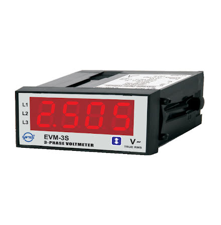 Voltmeter digital, 3-fas 10-300V/10-500V