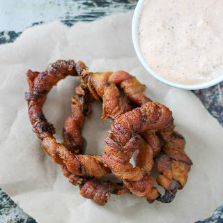 Bacon Wrapped Onion Rings.