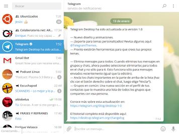 Telegram 1.0. Mucho mas que una aplicación de mensajería.