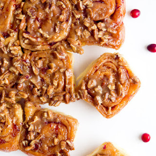 Triple Glazed Cranberry Pecan Sticky Buns