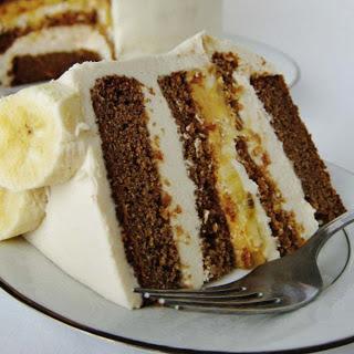Peanut Butter Banana Layer Cake [Vegan, Gluten-Free]