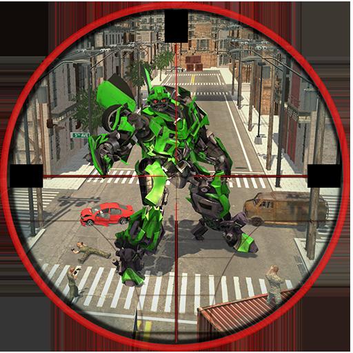 City Sniper vs Future Transform Robot War