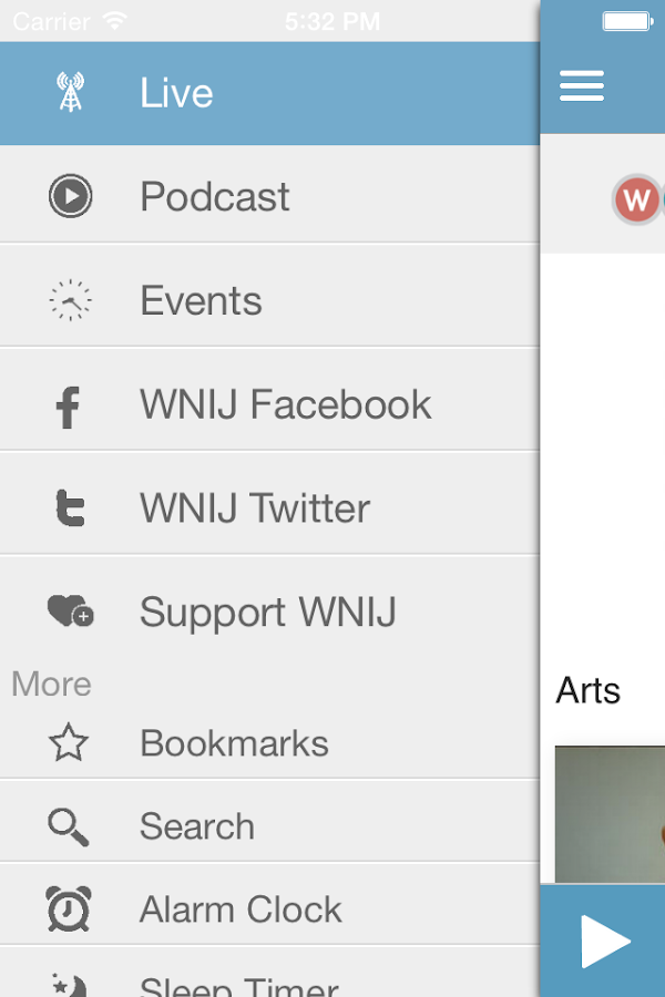 WNIU Public Radio App- screenshot
