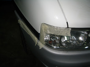 Photo: Es conveniente proteger con cinta, las partes que no vamos a pulir.