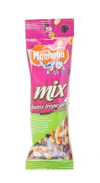 Pasabocas Manitoba Mix   Frutos Tropicales Paquete X40G.
