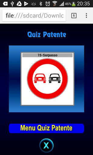 Quiz Patente Argomento 1.3 screenshots 1