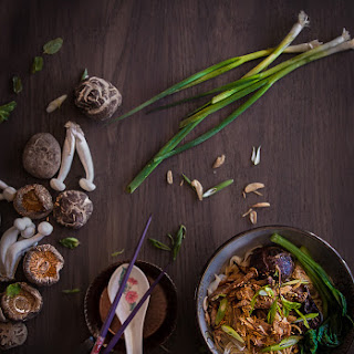 Chicken noodles with mushroom (Mie ayam jamur) - 4 servings.